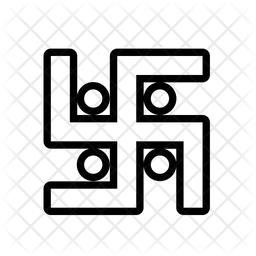 Swastik Line Icon
