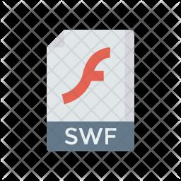 Swf file Flat Icon