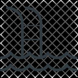 Swimming Line Icon