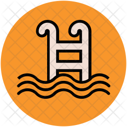 Swimming Colored Outline Icon