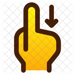 Swipe With Finger Icon Of Colored Outline Style Available In Svg Png Eps Ai Icon Fonts