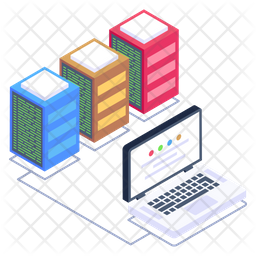 System Data Servers Isometric Icon