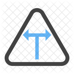 T intersection Icon