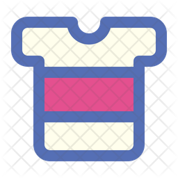 T Shirt Colored Outline Icon