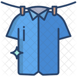 T Shirt Washed Colored Outline Icon