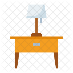 Table bed lamp Icon