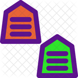 Table Game Colored Outline Icon