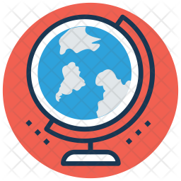 Table globe Colored Outline Icon