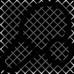 Table Tennis Isometric Icon