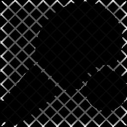 Table Tennis Glyph Icon