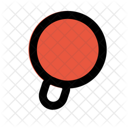 Table Tennis Colored Outline Icon