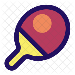 Table-Tennis Colored Outline Icon
