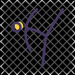 Taekwondo Colored Outline Icon