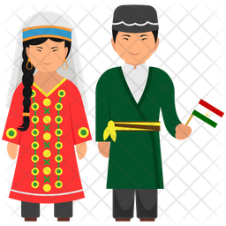 Tajikistan Dress Icon