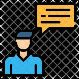 Talk Colored Outline Icon