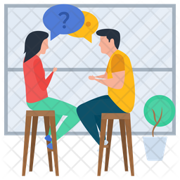 Talking Each Other Icon Of Flat Style Available In Svg Png Eps Ai Icon Fonts