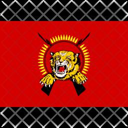 Tamil Eelam Flag Icon