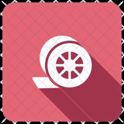Tape Glyph Icon