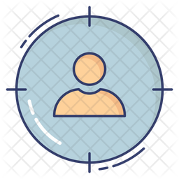 Target Account Colored Outline Icon