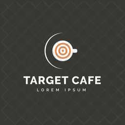 Target Cafe Colored Outline  Logo Icon