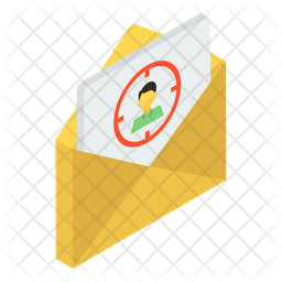 Target Mail Isometric Icon