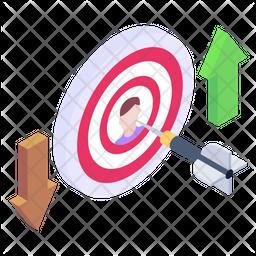 Target Profile Isometric Icon