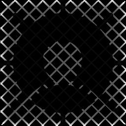 Target profile Glyph Icon