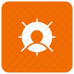 Target user Glyph Icon