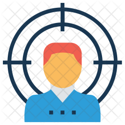 Target User Colored Outline Icon