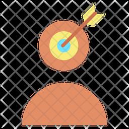 Target User Profile Flat Icon