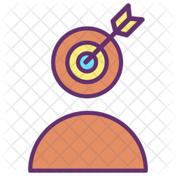 Target User Profile Colored Outline Icon