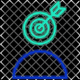 Target User Profile Line Icon