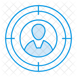 Targeted employee Colored Outline Icon