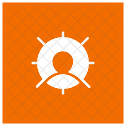 Targeted user Glyph Icon