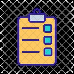 Task Board Colored Outline Icon