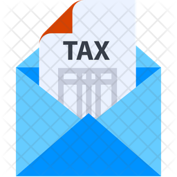 Tax Email Gradient Icon