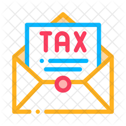 Tax Letter Line Icon