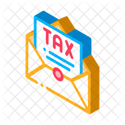 Tax Letter Isometric Icon