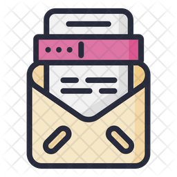 Tax Letter Colored Outline Icon