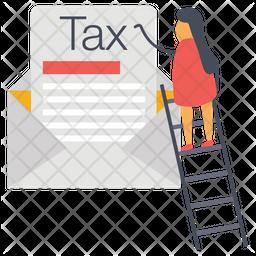 Tax Mail Flat Icon