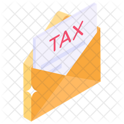 Tax Mail Isometric Icon