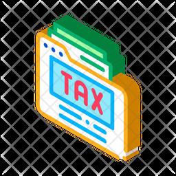 Tax Paper Folder Icon