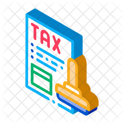 Tax Payment Stamp Icon