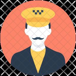Taxi Driver Avatar Icon