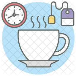 Tea Break Icon Of Colored Outline Style Available In Svg Png Eps Ai Icon Fonts