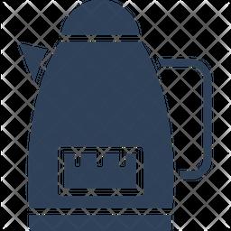 Tea Kettle Glyph Icon