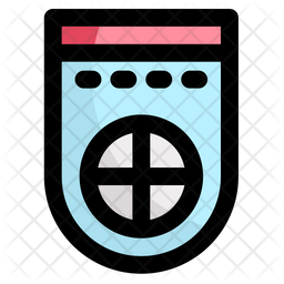 Team Banner Colored Outline Icon