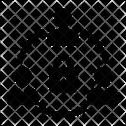 Team Lock Glyph Icon