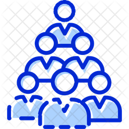 Teamwork Colored Outline Icon