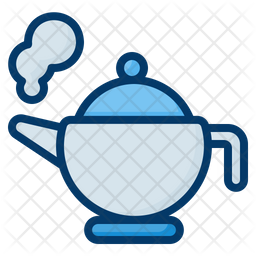 Teapot Colored Outline Icon